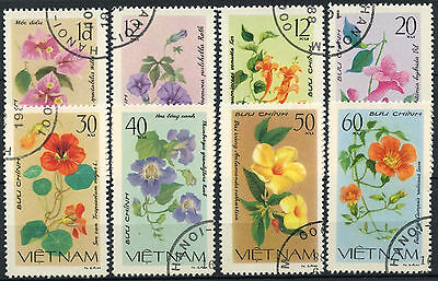 Vietnam 1980 SG#378-385 Flowers Used Set #A93220