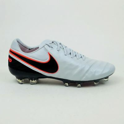 Nike Tiempo Legend VI FG Men's Soccer Cleats - Platinum/Black