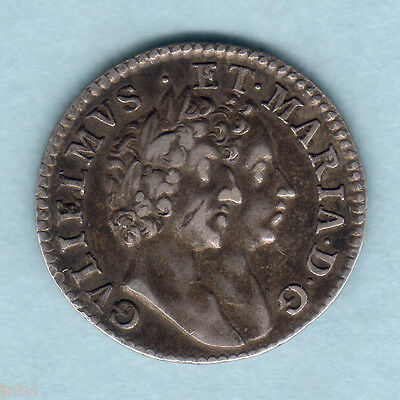 Great Britain. 1689 William & Mary - Fourpence.. G below bust..  gVF/VF