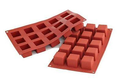STAMPO 15 CUBI SILICONE SILIKOMART MULTIPORZIONE DOLCI TORTE CUBO SF 105 mshop