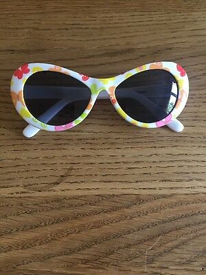 Gymboree Baby Girls Sunglasses White With Orange Butterflies 0-4 Years