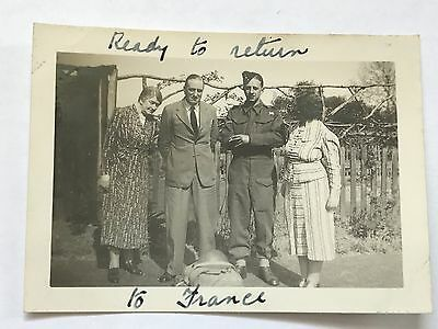 Photograph WW2 Territorial Army Soldiers British Expeditionary Force Family 5