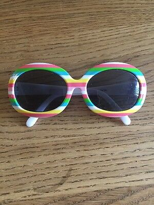 Gymboree Baby Girls Sunglasses White With Stripes 0-4 Years