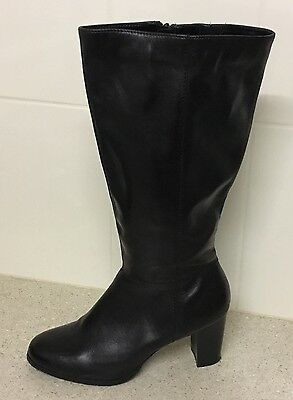 Target - Womens, Black Boots, Size 11 - Leather Upper