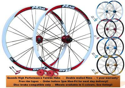"QR 26"" MTB Mountain Bike Disc Wheel Set 8/9/10 Speed Shimano/Sram Freehub"