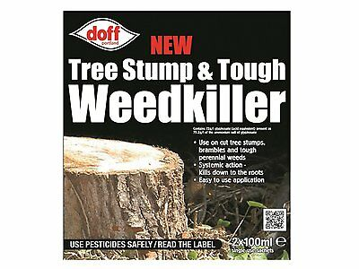 Doff New Tree Stump & Tough Weedkiller 2 Sachet