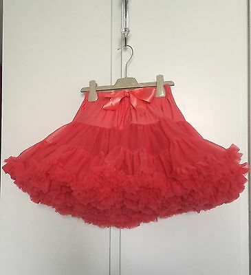 Angel's face blush pink/coral tutu age 8-10