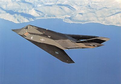 Lockheed F-117A Nighthawk-Stealth Fighter Military Aircraft Postcard