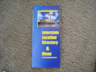 Waffle House --Interstate Directory And Menu--