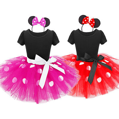 Baby Toddler Girl Kid Minnie Mouse Costume Party Xmas Outfit Fancy Tutu Dress up