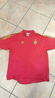 Spain  Football 2008 Home Shirt Size XL By Adidas
