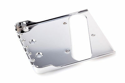 "Tele® Bigsby Flat Mount Bridge 0.60""CR-Steel Satin Chrome -Made in USA-"