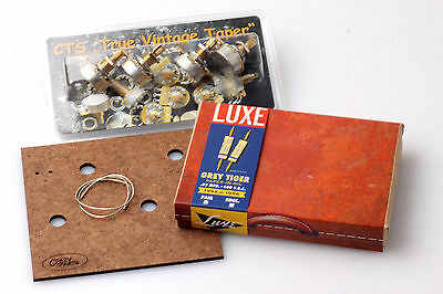 "LP Wiring Kit fits Gibson® Luxe 52/56' Grey Tiger Caps/CTS ""TVT"" Shortshaft Pots"