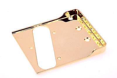 "Tele®Rear Tapered Bridge Gold 0.60""CR Steel-Made in USA-B.Y.O.B Project"