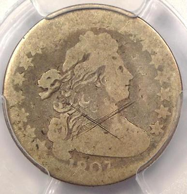 1807 Draped Bust Dime 10C - Certified PCGS AG Details - Rare Coin!