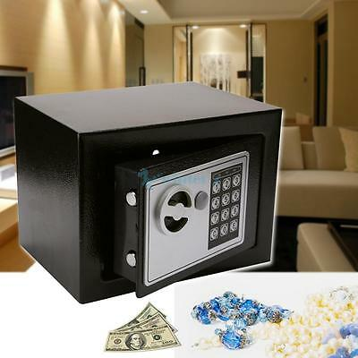 Mini Electronic Password Security Safe Deposit Box Home Office Money Cash Safety