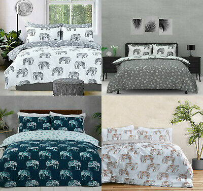 Elephant Animal Print Duvet Cover Bedding Quilt Set And Pillowcases All Sizes