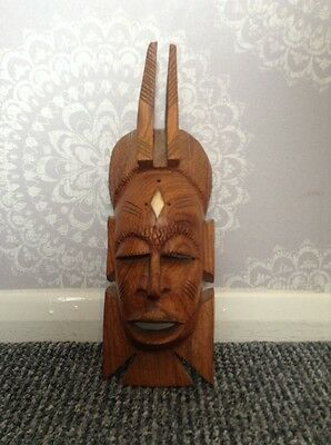 African hand carved wooden tribal mask