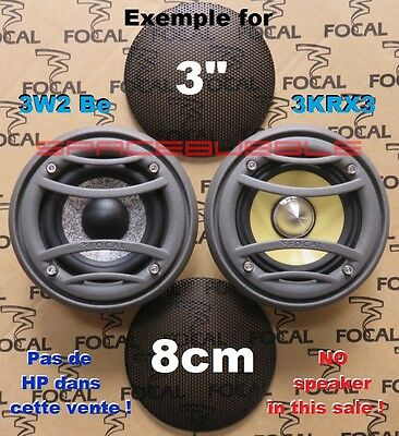 "NEW FOCAL 2x grilles grids grills 3"" Utopia 3W2 Be 8cm K2 Power 3KRX3 midrange"