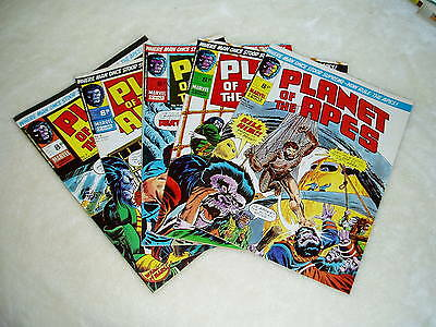 PLANET OF THE APES comics..(UK Marvel) 5 x issues..1974..No 4 - 8...FREE POSTAGE