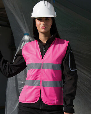 Result Safe-Guard Women's Fit Hi Vis Vest Ladies Waistcoat High Viz (R334F)