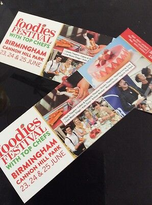 2 x Foodies Festival Birmingham Tickets ANY 1 DAY Entry 23rd - 25th June 2017