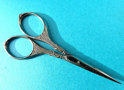 Antique Decorated Handle Sewing Scissors.
