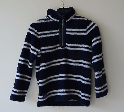 Joules Boys navy/white stripped jumper age 9-10 140cm