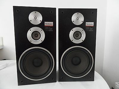 Technics SB-3130 Large Retro Hifi Speakers 3 Way System Sound fantastic! y403