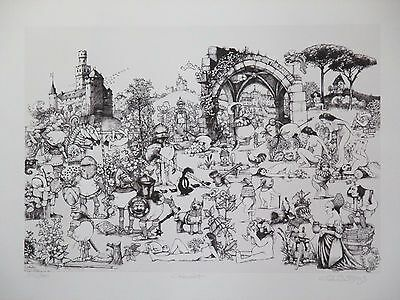 Awesome Limited Edition Fantasy Themed Etching Print by Charles Bragg!