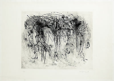 Peter Brüning, untitled, Etching, Handsigned, numbered, dated