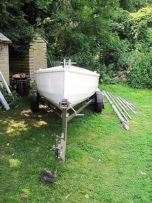 15ft Sailing Dinghy  (Canoe Yawl) & Road Trailer