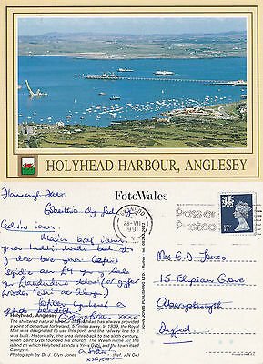 1991 Holyhead Harbour The Isle Of Anglesey Wales Colour Postcard