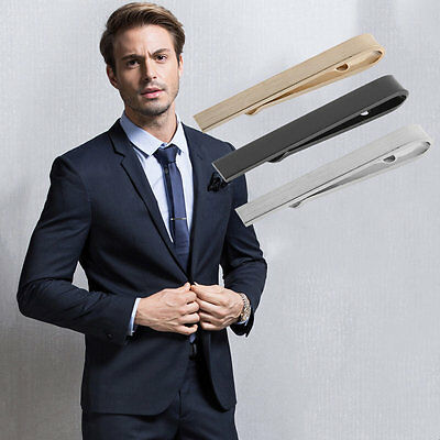 Business Men Fashion Simple Suit Tie Clip Necktie Tie Clasp Clip Tie Bar AU