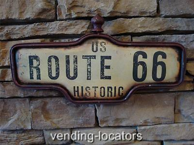 Route 66 Us Road Highway Rust Metal Bar Street Wall Decor Historic Stop
