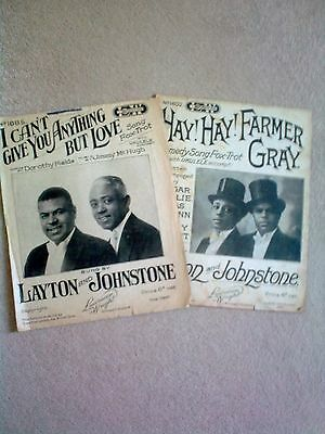 Vintage Sheet Music - LAYTON & JOHNSTONE - 2 for the price of 1