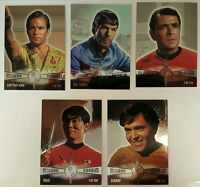 1998 Skybox Star Trek TOS Season 2 MIRROR MIRROR SET 5 CARD PARTIAL!! RARE /200