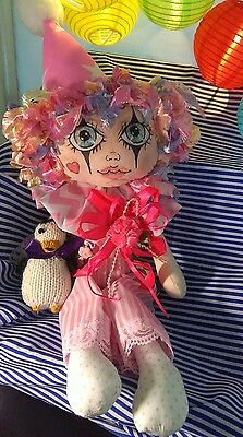 Handmade Cloth Rag Doll, Mya , 13 Inc, OOAK Collectable by Bianca