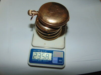 235.8g of gold filled Pocket watch cases