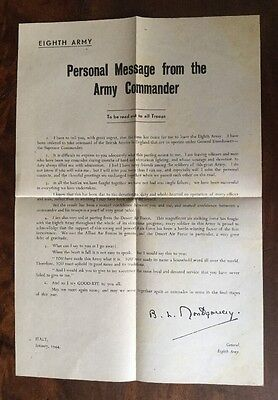 British 8th Army. Leaving Message By Montgomery January 1944