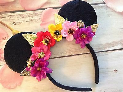 - Disney World Mickey Mouse Ears Headband- Flower & Garden- Epcot-Disneyland