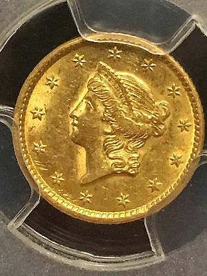 1851 $1 Indian Head Gold -PCGS MS62-Nice Eye Appeal