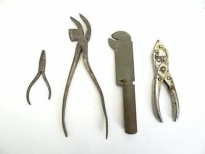 Vintage Lot Old Unusual Boos Tool Corp Sargent Co Pliers Adjustable Wrench Tools