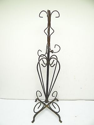 Vintage Wrought Iron Decorative Free-Standing Adjustable Display Stand Rack Old