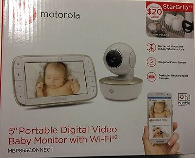 Motorola MBP855 Connect wi-fi Video Baby Monitor New