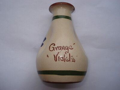 C1920S Vintage Unusual Royal Torquay Grange' 'violets 'perfume Bottle