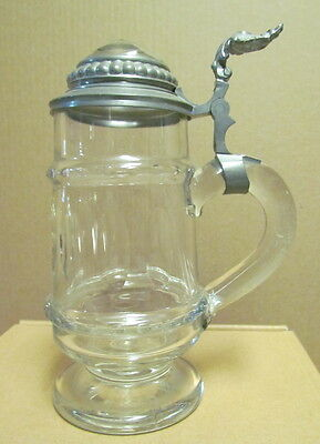 Antique Ground & Polished Lidded Glass Stein