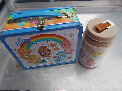 Vintage Care Bears Metal Lunchbox with Thermos -  Aladdin