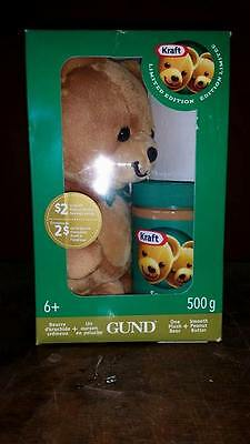 Gund Kraft Peanut Butter Bear Limited Edition Stuffed Toy Green 2014 Sold Out!!