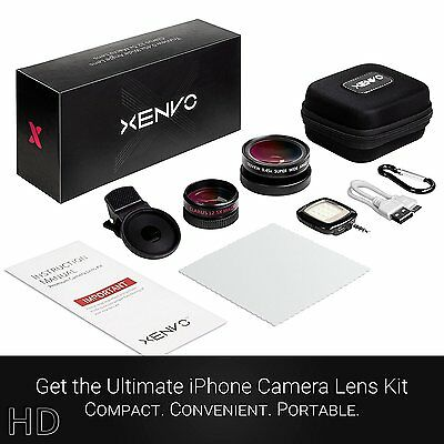 Xenvo iPhone Camera Lens: Macro & Wide Angle Lens Kit, Clip-On Cell Phone Lens